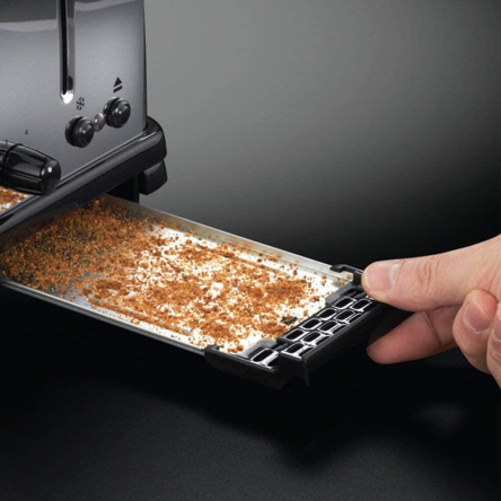 Sistema de limpieza fácil para liimpiar las migas de pan de la tostadora