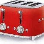 Smeg TSF03 Tostador, 2000 W, Rojo