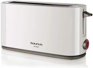 tostadora barata Taurus My Toast Tostadora de Ranura Larga y Extra Ancha, Plástico, Multicolor