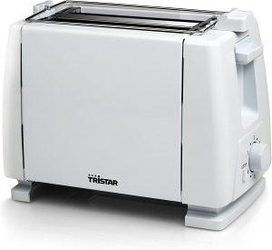 tostadora barata Tristar Br-1009 Tostadora, 650 W, Metal, 2 Ranuras, Blanco [Clase de eficiencia energética A]