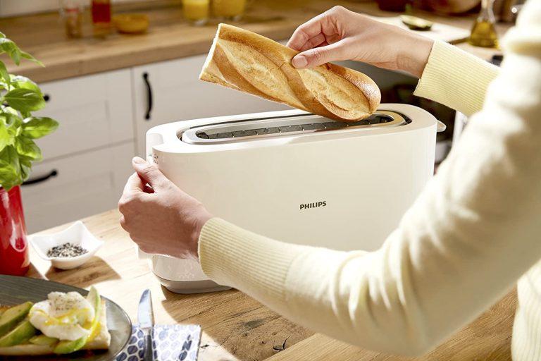 tostadora phillips con el sistema de seguridad tacto frío