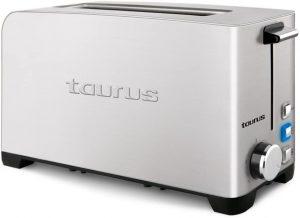 Taurus Mytoast Legend Tostador de una Ranura ancha de 45 mm, 1050 W, Acero Inoxidable, Gris