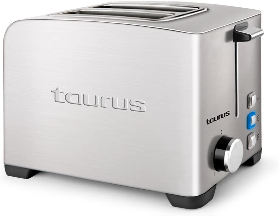 Taurus Mytoast II Legend Tostador de 39 mm, 850 W, Acero Inoxidable, 2 Ranuras, Gris