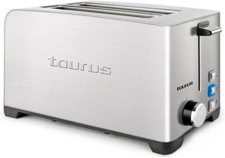 Taurus Mytoast Duplo Legend Tostador, 1400 W, Acero Inoxidable, 2 Ranuras, Gris