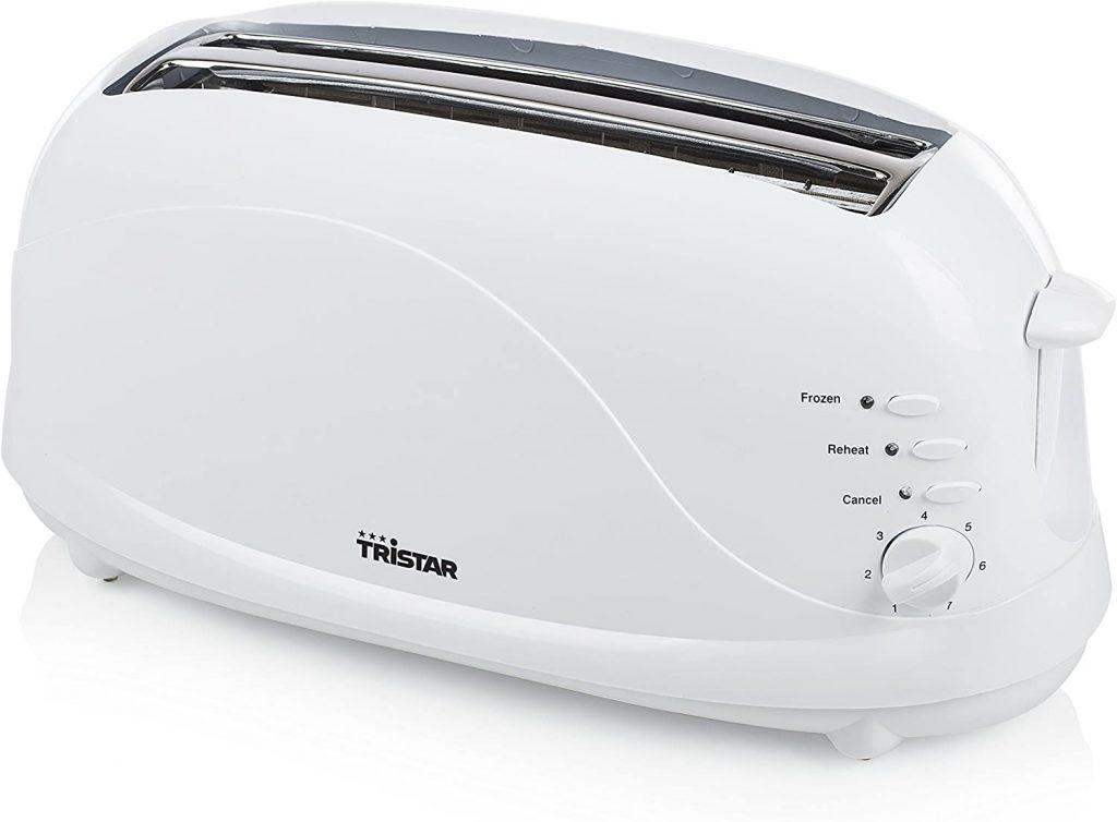 tostadora barata Tristar BR-1045 Tostadora, 1100 W, Blanco [Clase de eficiencia energética A+]