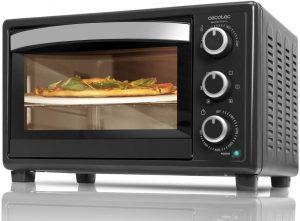 Cecotec Bake&Toast 570 - Horno Conveccion Sobremesa, Capacidad de 26 litros, 1500 W, 6 Modos, Piedra Especial para cocinar Pizza,