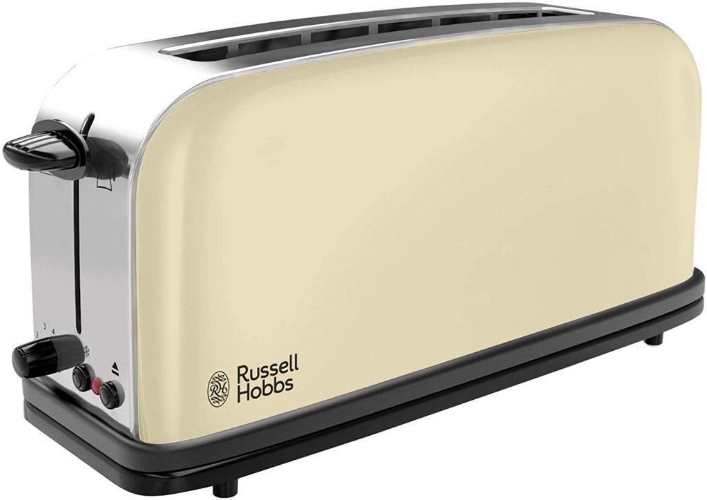 Russell Hobbs Colours Plus 21395-56 – Tostadora, Ranura Larga y Ancha, para 2 Rebanadas, Acero Inoxidable, Crema