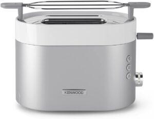 Kenwood TCM401TT Tostador, 5 niveles de tostado, 2 ranuras, descongelar, bandeja recogemigas, 1100 W, Acero inoxidable, Plata